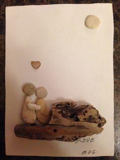 """Pebble Art by Denise. """" Family"""""""