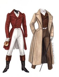 1830's BEAU Romantic hero inspired by a collection of antique prints of gentleman's fashions.  3 of 3