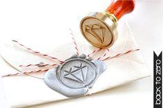 B20 Wax Seal Stamp Diamond by BacktoZero on Etsy, $20.00