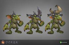 Goblin marauders by Gimaldinov on DeviantArt Character Modeling, Game Character, Character Concept, Concept Art, Character Design, Goblin Art, Monster Design, Creature Concept, Visual Development
