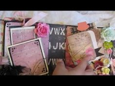 ▶ Romance Novel envelope mini album - YouTube - has some great inserts.  Would like to have seen an instructional video