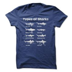 I Love Types of Sharks Shirts & Tees