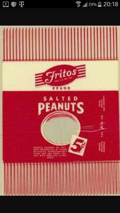 Did you know one of the first snack foods distributed by the Frito Company was peanuts in Lays Potato Chips, Frito Lay, Snack Recipes, Snacks, Vintage Candy, Vintage Recipes, Did You Know, Pepsi, Peanuts