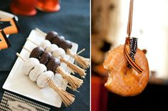 halloween dessert pinterest | From the same party, I love her donuts on a broomstick idea! You can ...