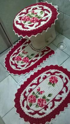 Crochet For Home - Bathroom Crochet Home Decor, Crochet Crafts, Yarn Crafts, Crochet Projects, Diy And Crafts, Crochet Owls, Crochet Doilies, Crochet Flowers, Crochet Stitches