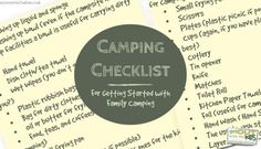 What Equipment to Get for Family Camping Equipment
