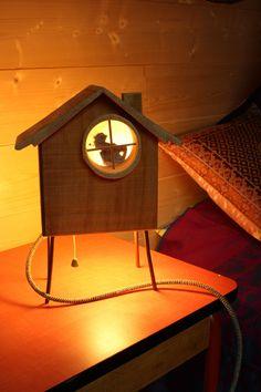 lampe chevet / lampe de chevet / lampe bois / lampe chambre enfant / lumière d'ambiance / veilleuse /bois / ecologique / naturel : Luminaires par le-teckel-volant #LampDeChevet