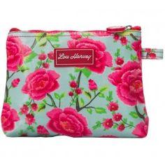 Lou Harvey small cosmetic bag vinyl-covered in Alexandra Sage design, great for #summer #beachbags #waterproof