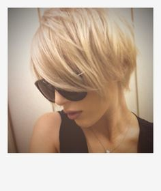 short hair (my hubby would love if I did this exact thing to my hair... color and all!)