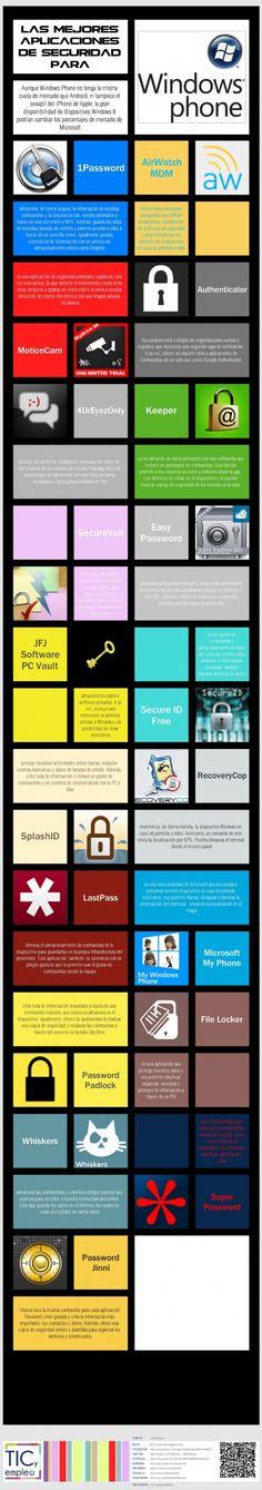 Las mejores apps de seguridad para Windows Phone.  http://ticsyempleo.blogspot.com.es/