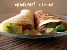 A Southern Grace: savor the savory breakfast crepes Breakfast Crepes, Breakfast On The Go, Savory Breakfast, Unique Recipes, Ethnic Recipes, Egg Roll Wrappers, Puff Pastry Recipes, Christmas Brunch, Southern