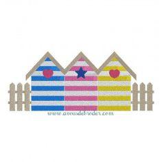 Tableau decoratif bois esprit vintage et recup les maisons for Plan cabine de plage en bois