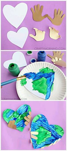 Handprint Earth Day Craft for kids to make! Handprint Earth Day Craft for kids to make!