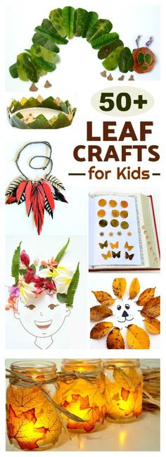 50 AMAZING LEAF CRAFTS FOR KIDS- tons of ideas I've never seen! Pinning for later!