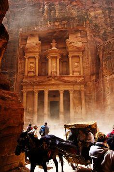 Petra, Jordan >> I really want to visit here.
