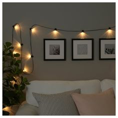 IKEA BLÖTSNÖ LED lighting chain with 12 lights Indoor/battery-operated black Creates a soft, cosy mood light in your room. Indoor Lighting, Home, Light Chain, Bedroom Lighting, Lights, Fairy Lights, Lighting Chains, Led Lights, Living Room Lighting