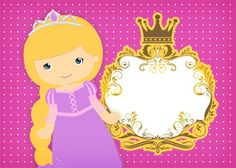 Convite Princesa Loira 2 Princess Rapunzel, Princess Peach, Disney, Fictional Characters, Blond, Party Kit, Kids Part, El Dorado, Meet