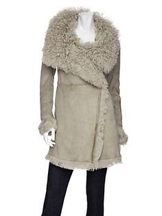 Closed shearling coat #AlmostFamous
