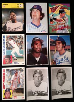 LOT OF 9 DIFFERENT MLB BASEBALL 5 X 7 INCH PHOTOS AARON BOGGS OTIS BOSMAN SUTTER #ChicagoCubs