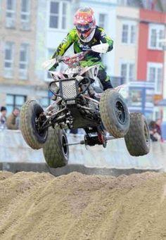 WILD: Quad bike racing on Weymouth beach, February 2013