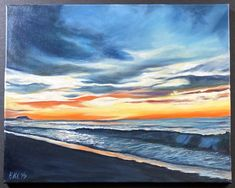 16x20 oil on canvas. Wave on beach or melting snowbank? Reference photo @billolson2 Illusions, Oil On Canvas, Original Art, Waves, Watercolor, Ink, Beach, Artist, Painting