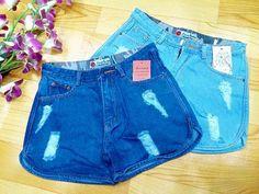 Quần short jeans nữ lai bầu