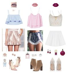 """Summer"" by jasnasupica on Polyvore featuring Mode, Brian Atwood, New Look, MANGO, RED Valentino, LC Lauren Conrad, Zoë Chicco, Tiffany & Co., Kobelli und Sam Edelman"