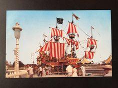 Vintage Disneyland Fantasyland Postcard - The Pirate Ship Restaurant - Chicken of the Sea 1955 by VintageDisneyana on Etsy
