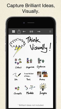Inkflow works like a word-processor for visual thinking. Capture your ideas as easily as with pen and paper, then arrange and reorganize them with your fingers! Free Notebook, Writing Notebook, Free Apps For Iphone, Iphone Notes, Visual Note Taking, Whiteboard Animation, Sketch Notes, Mobile Learning, Text On Photo