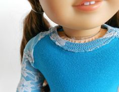 Teal and Brown 3 Piece Set for American Girl Dolls by DolzDreamzzz, $16.00