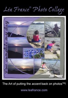 Photo Collage created by Joyce, using the Lea France Harmony Stencil.