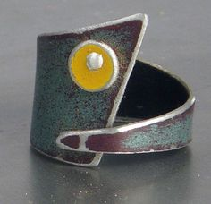 """""""Audrey"""" ring - metal salvaged from a 73' GMC pickup trunk - Pyper Hugos"""