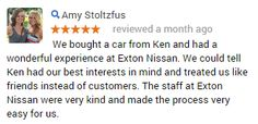 Thanks! #CustomerService #ExtonNissan