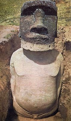 Easter Island heads also have bodies