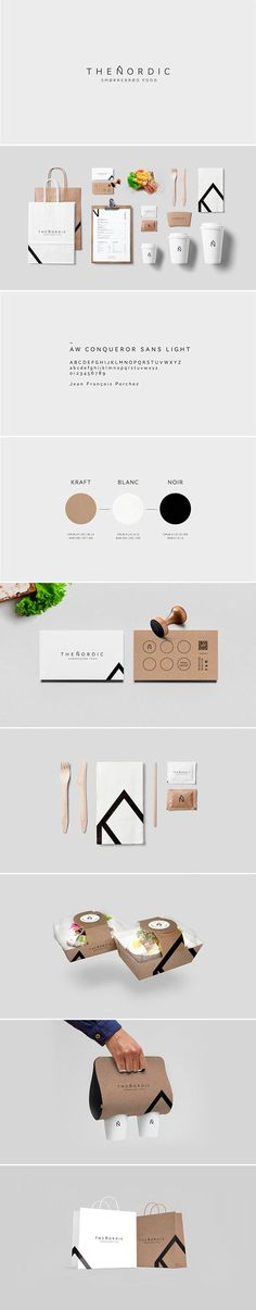 identity / The Nordic by Swiss graphic designer Alexandre Pietra for a Scandinavian food truck.