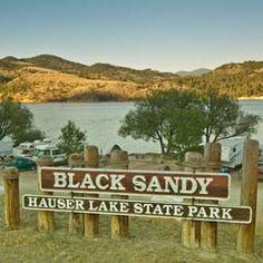 Black Sandy State Park sign.