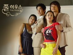 """""""Full House"""" - Han Ji Eun is a writer who got swindled out of everything she owned by her friends. Stranded in China, she borrow money from an actor Lee Young Jae to return to Korea. On her return, she found out that her house was bought by Lee Young Jae. In an attempt to get her possessions back, she entered in a contract marriage with Young Jae for one year. The business relationship between the two becomes personal as they start to rely and care for each other."""