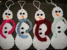 Snowman Christmas Ornament  free pattern ♥ 4000 FREE patterns to knit ♥ http://pinterest.com/DUTCHYLADY/share-the-best-free-patterns-to-knit/