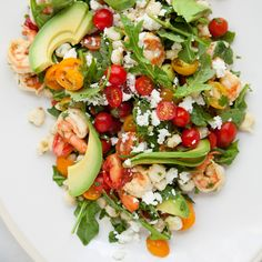 This light shrimp salad has a wonderful zing from a tangy lime vinaigrette and is light enough for a hot day.