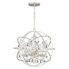 Crystorama Solaris 9026 5 Light Chandelier -  5 Tiered to go over Dining Room Table $609.59 Two- 4 Tiered to go over the kitchen island $429.05