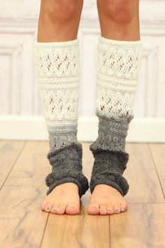 I've got a random obsession with leg warmers. Cream Ombre Leg Warmer - I would wear in several different ombré styles Boot Cuffs, Boot Socks, Mode Style, Style Me, Cute Socks, Leggings, Tights, Swagg, Passion For Fashion