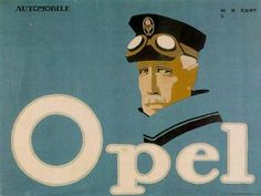 Hans Rudi Erdt, advertisment for Opel automobiles (@Jeremy Caesar i feel you would like his style..?)