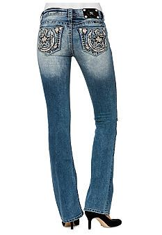 Miss Me Texas Star Relaxed Boot Cut Jean