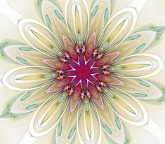 Barbara Lane - Blushing Colors #fractal #kaleidoscope #mandala