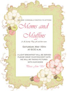 moms and muffins - activity days