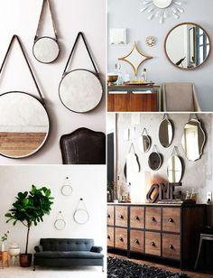Mirror Wall Collage, Mirror Gallery Wall, Mirror Walls, Mirrors, Mirror Mirror, Living Room Designs, Living Room Decor, Bedroom Decor, Wall Decor