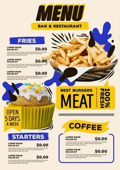 Menu Card Design, Page Layout Design, Food Menu Design, Food Poster Design, Restaurant Menu Design, Food Graphic Design, Graphic Design Inspiration, Food Branding, Branding Design