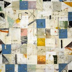 From Caldwell Snyder Gallery, Nicholas Wilton, Blue Aerial Mixed media on panel, 48 × 48 in Collage Art, Collage Ideas, Art Ideas, Learn To Paint, Map Art, Teaching Art, Abstract Art, Abstract Paintings, Painting & Drawing