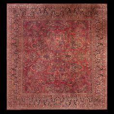 Sarouk Rug - 23038 | Persian Formal 13' 8'' x 14' 0'' | Red, Origin Persia…