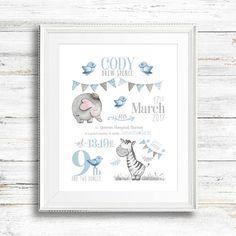 39 Ideas baby art nursery birth announcements for 2019 Baby Prints, Nursery Prints, Nursery Art, Safari Nursery, Nursery Decor, Newborn Baby Gifts, Baby Boy Gifts, Scrapbook Bebe, Birth Announcement Girl